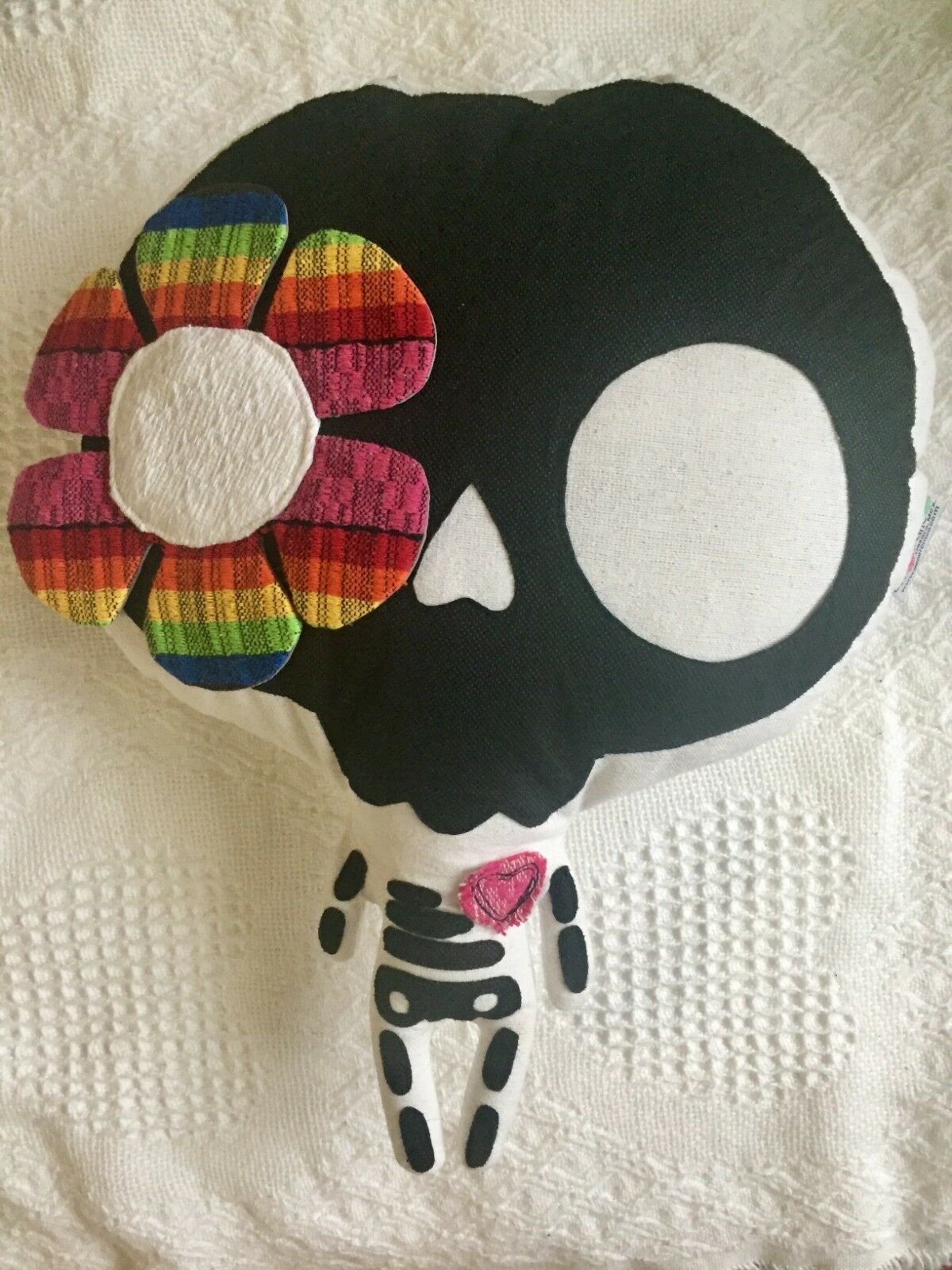 Day Of The Death/ Cute Mexican Skeleton With Flower/ Stuffed Skeleton