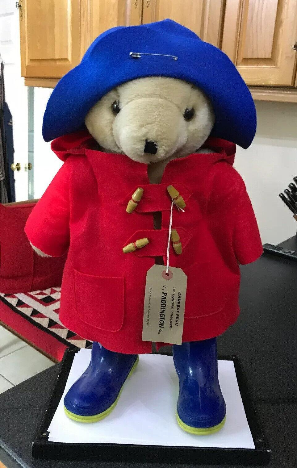 Jahr Large Größe Paddington weich Spielzeug Teddy Bear Teddybear - rot Blau Colourway