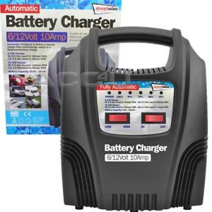 Details about 6v 12v 10A Car Van Bike 20Ah to 100Ah Fully Automatic Battery  Charger SWBCLED10