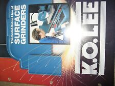 K O Lee Manual Surface Grinders16 Pgs Technical Data Std Equipment Mint