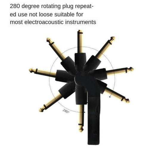Drahtloses Gitarrensystem 2.4G Wiederaufladbarer 6 Kanal Audio Funksender und
