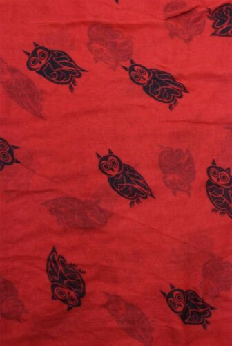 NEW Animal Bird Owl Print Fashion Scarf Wrap Chiffon Stole Soft Large Light UK