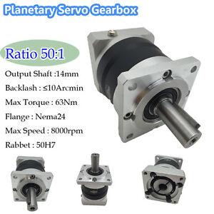 Image is loading Nema24-60mm-Servo-Motor-50-1-Planetary-Gearbox-