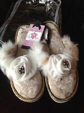 138c711658c item 5 Pretty You London Thong Slippers Size S 5-6 Josie Ivory Faux Fur  Crystal NIP -Pretty You London Thong Slippers Size S 5-6 Josie Ivory Faux  Fur ...