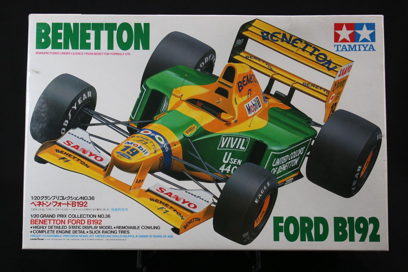 XC014 TAMIYA 1/20 maquette F1 F1 F1 20036 BENETTON ford B192 Mobil 1992 Schumacher | Se Vendant Bien Partout Dans Le Monde  6b4da7