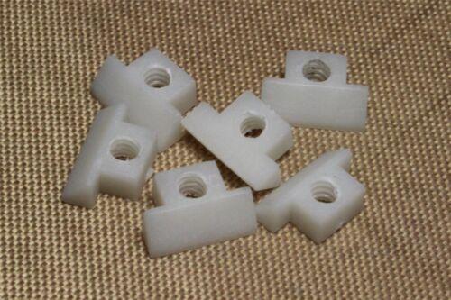 Set of 6 White ABS string saddles for Gibson NON-WIRED ABR-1 bridge