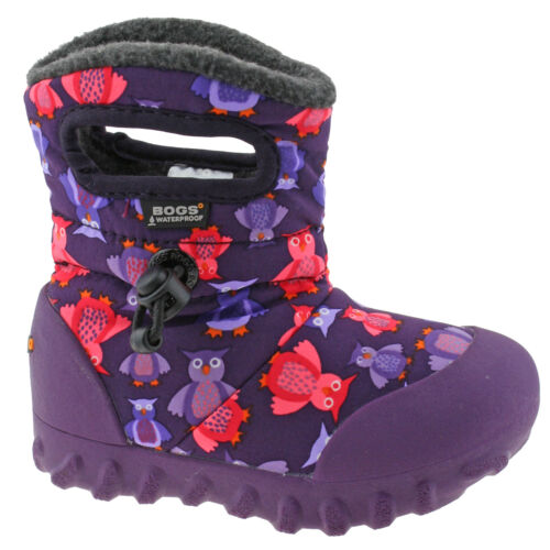 GIRLS BABY BOGS PUFF OWL PURPLE INSULATED WARM LINED WELLIES BOOTS 720141