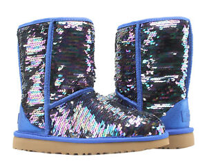 c333aaf0bf1 Details about UGG Australia Classic Short Sequin Navy Women's Winter Boots  1094982-NAVY