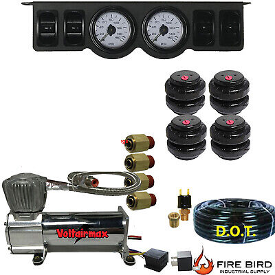 """V  Air Ride Suspension Mini Paddle Valve 1//4/"""" Manual 2500 Bags and fittings"""