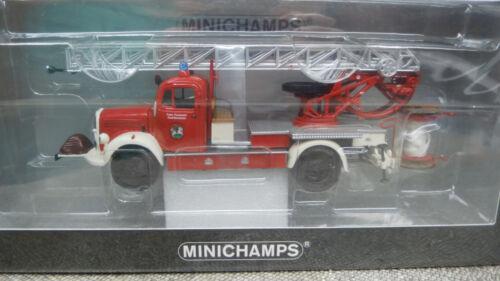 Minichamps 439350081 Mercedes Benz L 3500 dl 17 bomberos Bensheim 1:43 nuevo embalaje original