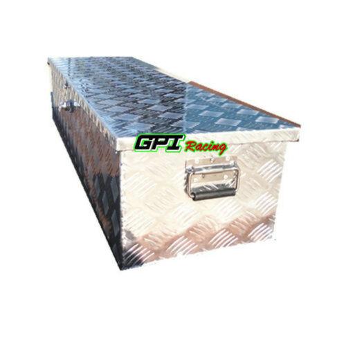 "50/""x15/""x15/"" Aluminum Truck Pickup ATV Camper Tool Box Trailer Flatbed//RV Storage"