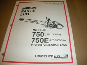 Image Is Loading Homelite Chainsaw Parts List Ipl 750 17105