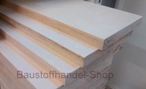 27mm Sperrholz Birke  54€//m² Multiplexplatte Mehrschichtplatte Möbelholz Regal
