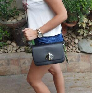 Kate-Spade-Nicola-Shoulder-Bag-With-Logo-Black