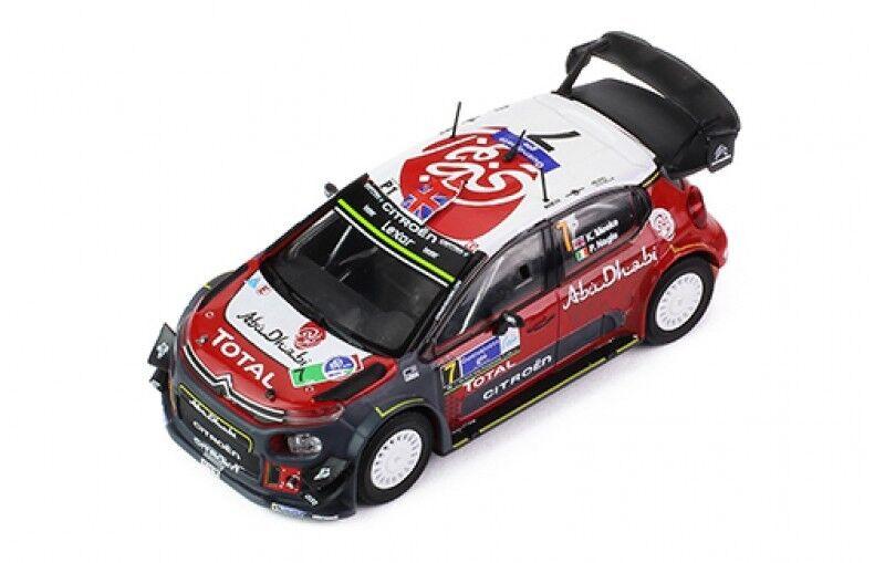1/43 CITROEN C3 ABU DHABI WRC WINNER RALLY MEXICO 2017 K. Meeke/Nagle P.