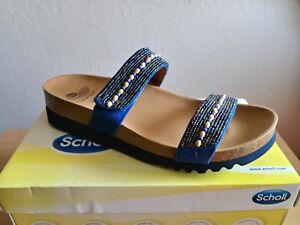 Scholl Tambre Damen Sandale mit Perlenbesatz EU 42 UK 8 Sandalette Bioprint®