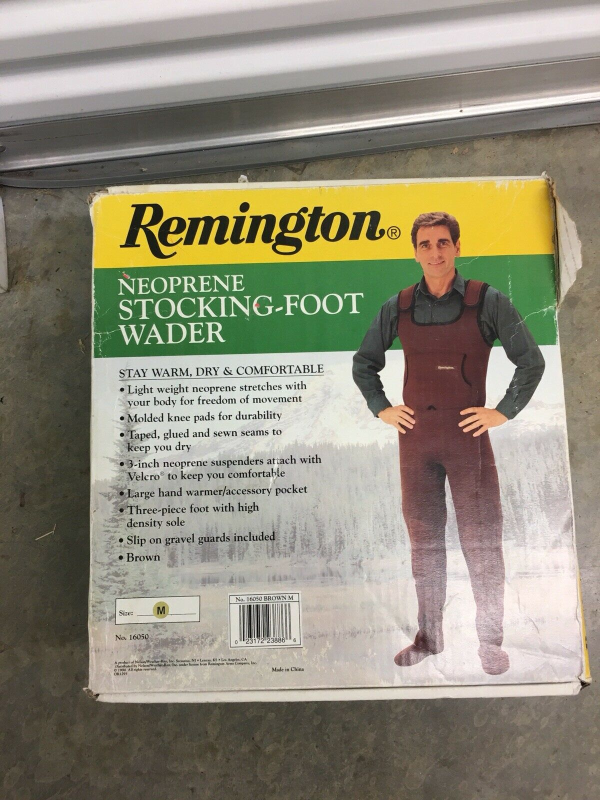 nuovo In scatola Remington Neoprene Hip Chest Waders Dimensione M Medium Foot 8 To 10 Mens
