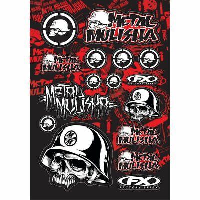 Factory Effex Sticker Decal Sheet Kit Metal Mulisha Graphic