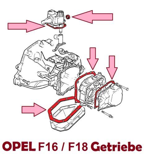 Opel F20 Dichtungssatz Getriebe F20 OPEL Kadett E Astra F Astra G Vectra A