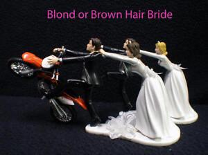 Wedding Cake Topper w/ KTM Dirt Bike Motorcross White ...
