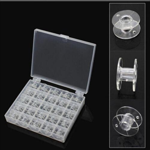 25PCS Bobbin Box Storage Organizer Transparent Plastic Sewing Machine Container