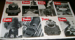 8 Vintage Trains Magazines THE MAGAZINE OF REAL RAILROADING From 1969 and 1970