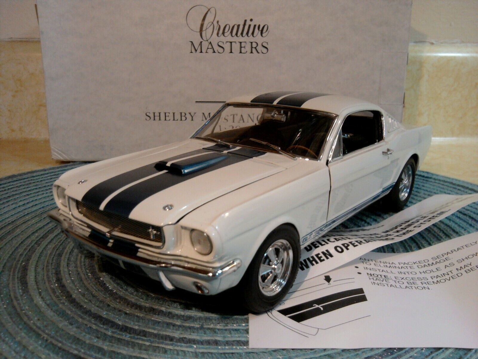 CREATIVE MASTERS REVELL..1 20..RARE SHELBY MUSTANG GT 350..NIB..UNDISPLAYED
