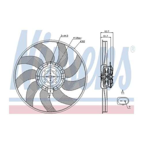 Fits Audi A4 Allroad B8 3.0 TDI Quattro Nissens Engine Cooling Left Radiator Fan