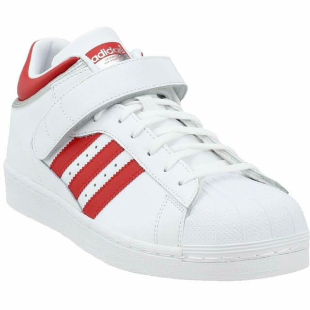 Adidas Originals Pro Shell Men's White Red Silver Superstar Shoes BY4384 (556)