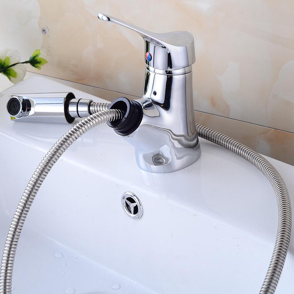 Wasserhahn Badarmatur Ein Griff Waschtisch mit ausziehbar Brause Messing Armatur | Preisreduktion  | Haltbar  | Gute Qualität  | Der neueste Stil