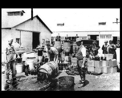 Prohibition Deputies Dump Beer PHOTO Liquor Bootleggers Beer