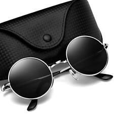 ec8782c645 Argus Le Lennon Style Round Vintage Polarized Sunglasses With Plain Lens NEW