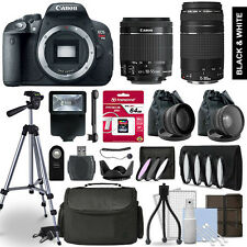 Canon Rebel T5i SLR Camera 4 Lens Kit 18-55 + 75-300mm + 64 GB Accessory Bundle