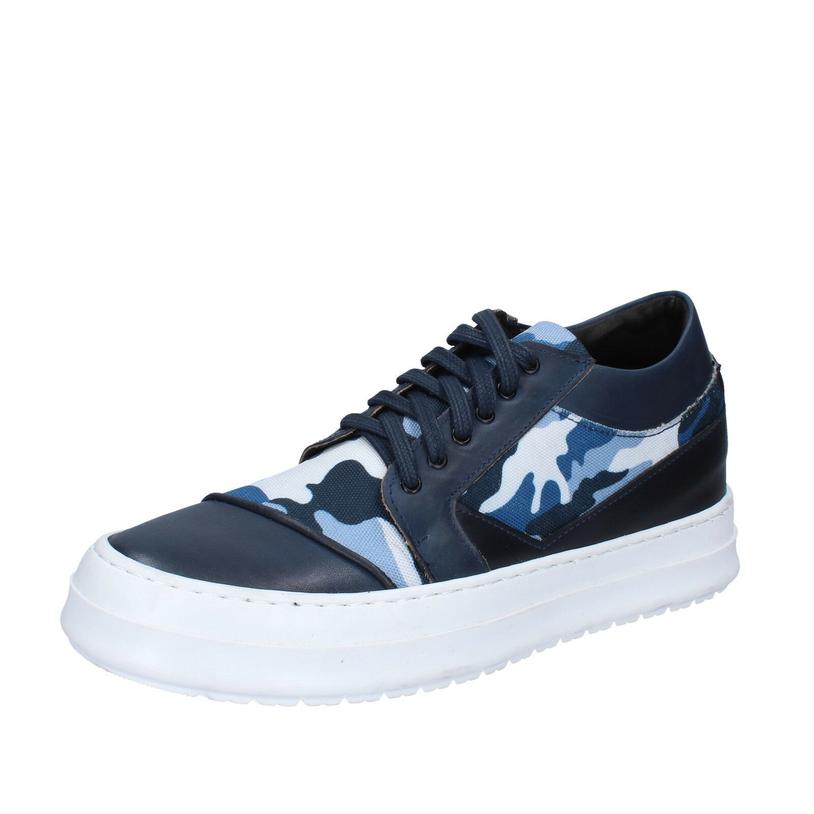 Men's schuhe FDF Leder Schuhe 8 (EU 41) Turnschuhe Blau Leder FDF textile BZ377-C 07a9ab
