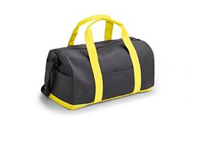 ec52e38b461 Image is loading Genuine-MINI-Lifestyle-Duffle-Bag-Grey-amp-Lemon-