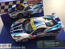 "Carrera Digital 132 30715 FERRARI 458 ITALIA GT2 ""AF CORSE, NO. 54"" LICHT NEU"