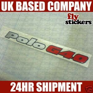 VW-Polo-G40-Rear-Badge-Sticker-Replacement