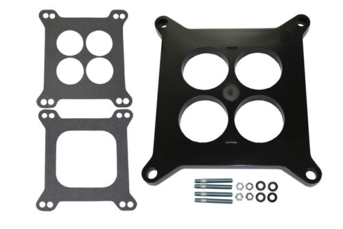 """1//2/"""" Phenolic Plastic Carb Spacer 4 Hole Square Flange W// Gaskets /& Studs Holley"""