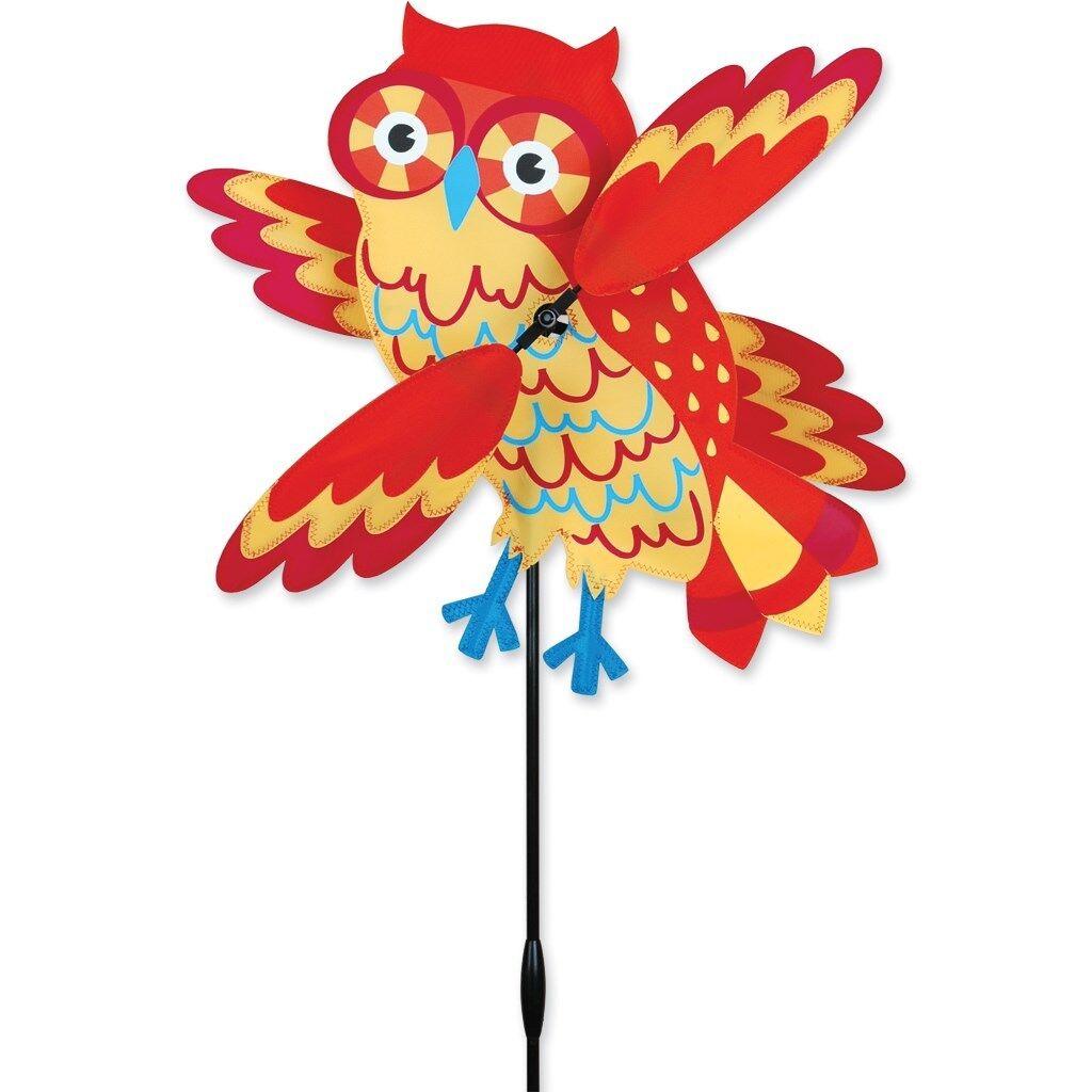 Orange Owl 17  Staked Wind Whirl Wing Whirligig..16...... PR 21882