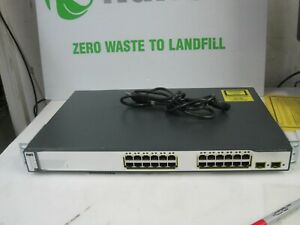 LOT-of-4-Cisco-WS-C3750-24PS-S-24-Port-Catalyst-PoE-Ethernet-Switch