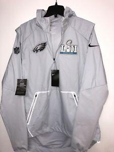 pretty nice 69572 0df94 Details about NIKE PHILADELPHIA EAGLES SUPER BOWL LII BOUND MEDIA NIGHT  ALPHA SHIELD JACKET