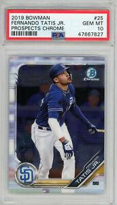 Fernando-Tatis-Jr-2019-Bowman-Prospects-Chrome-Baseball-Rookie-Card-25-PSA-10