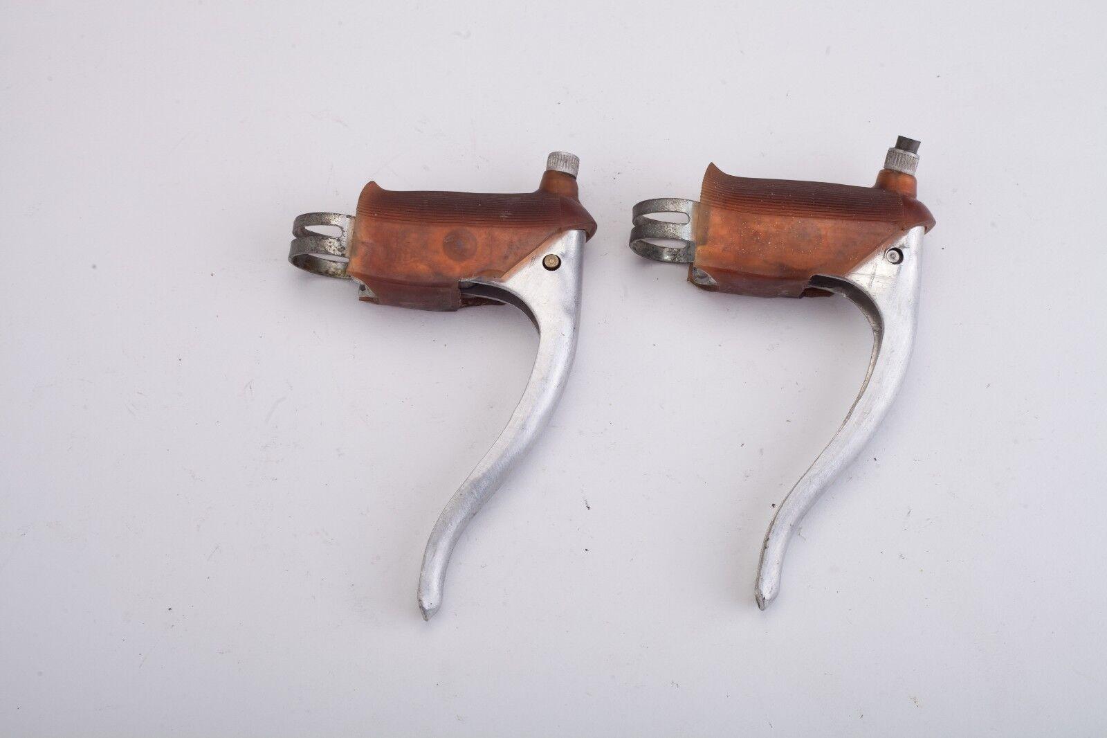Ballilla road bike brake levers w. gum hoods vintage Eroica Universal mod 61