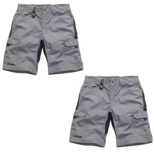 Various Sizes Scruffs Trade Flex TWIN PACK Slim Fit Work Shorts Graphite Grey