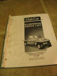 Details about Club Car Carryall 1 2 Gas Electric Illus Parts List Manual  Catalog Golf Cart