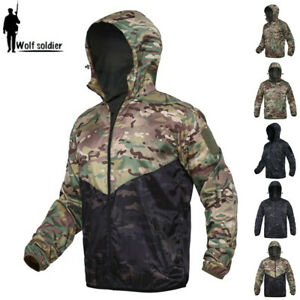 Windbreaker-Mens-Combat-Jacket-Tactical-Military-Casual-Coats-Hooded-Camouflage