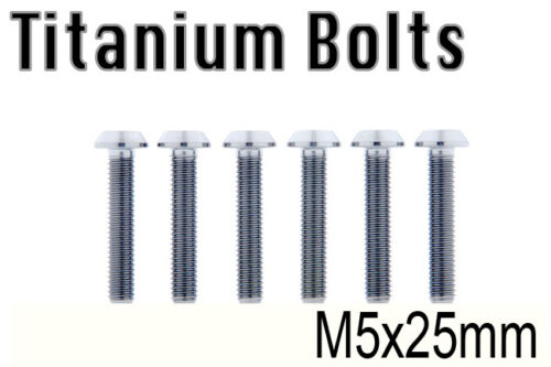 US Seller x6 New Titanium Ti Bolt M5x25mm Taper Torx T25 M5 25L Bicycle Screw