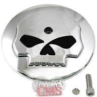 Chrome Skull Air Filter Cleaner Cover Insert For Harley Davidson Models Intake