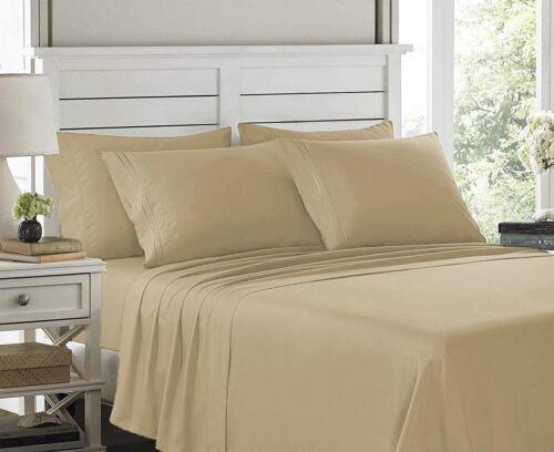 All Colors Sizes Hotel Super Soft 6 Piece Bed Sheet Set Deep Pockets Bedding