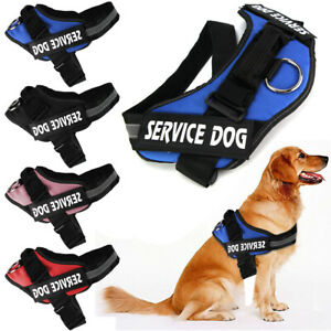 Service-Dog-Vest-Harness-Adjustable-Patches-Reflective-Small-Large-Medium-S-2XL